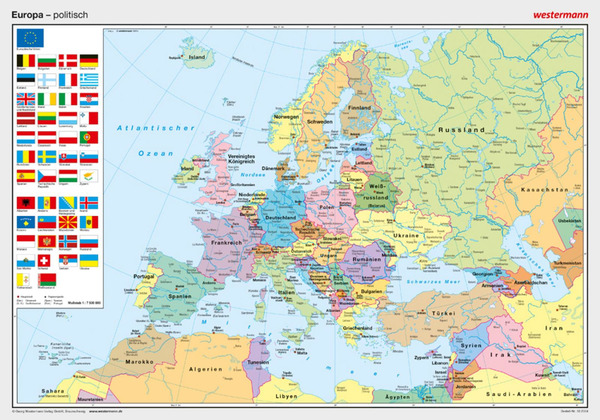 posterkarten geographie europa politisch westermann verlag. Black Bedroom Furniture Sets. Home Design Ideas