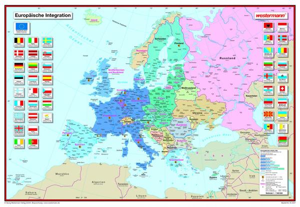 posterkarten geographie europ ische integration westermann verlag. Black Bedroom Furniture Sets. Home Design Ideas