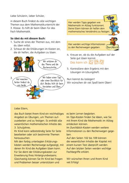 Mathe - Das kann ich! - Übungsheft Klasse 3 - Denken und Rechnen ...