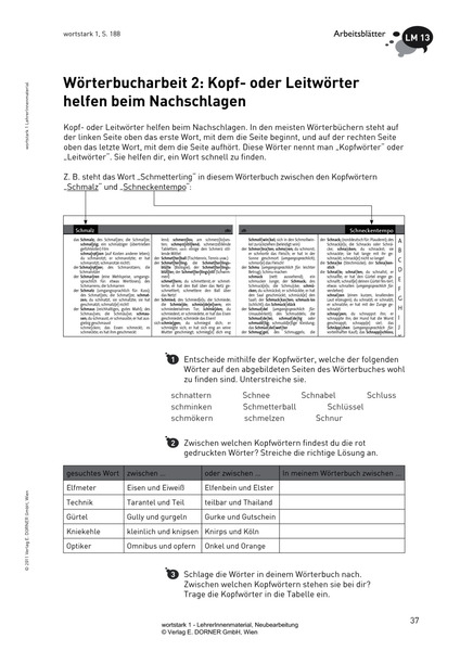 wortstark 1 - Lehrer/innenmaterial: Westermann Gruppe in Österreich
