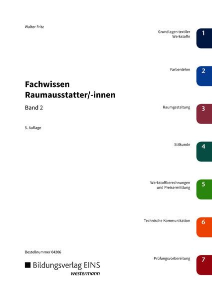 Fachwissen f r raumausstatter innen sch lerband 2 for Raumausstatter schweiz