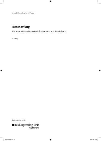Beschaffung - Ein kompetenzorientiertes Informations- und ...