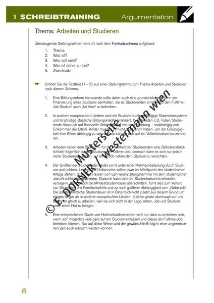 Ansprechend Deutsch 78 Ahs Arbeitsheft Schreibtraining