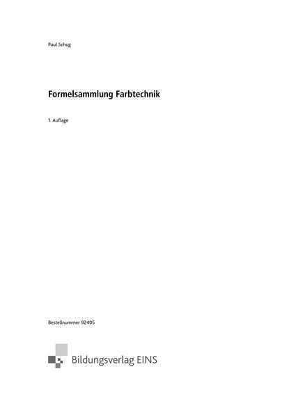 Formelsammlung farbtechnik raumgestaltung formelsammlung for Raumgestaltung beruf