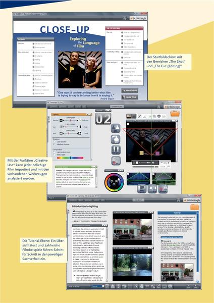 close up exploring the language of film lernsoftware. Black Bedroom Furniture Sets. Home Design Ideas