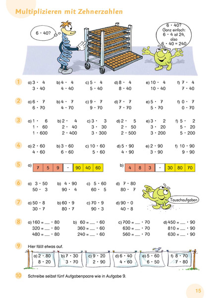 arbeitsblatt vorschule 187 halbschriftliches multiplizieren
