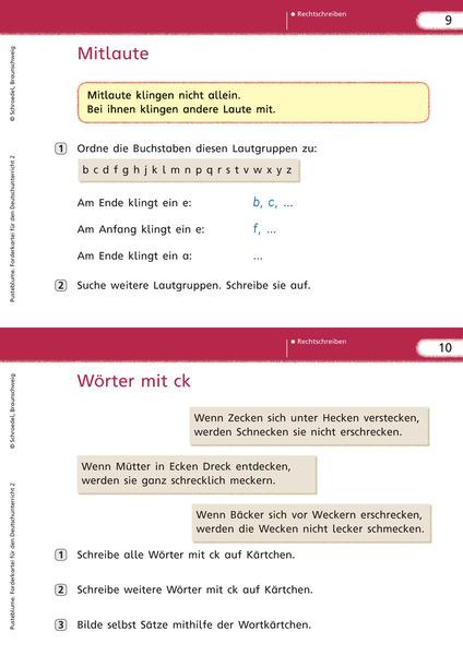 Pusteblume. Das Sprachbuch - Ausgabe 2009 - Forderkartei 2 ...