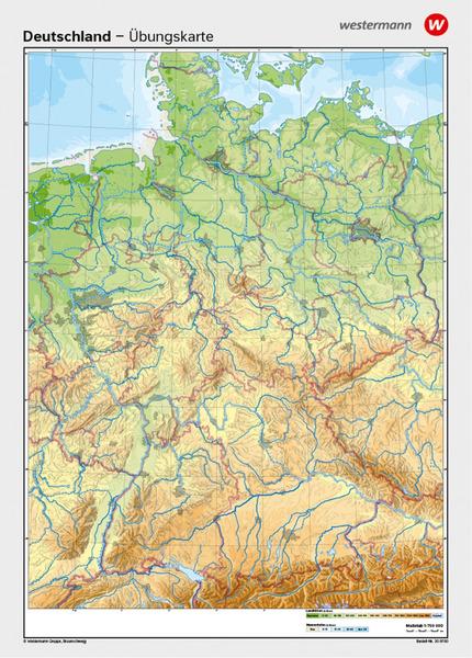 Deutschland Gesamt Vorderseite Physisch Ruckseite Stumme Karte
