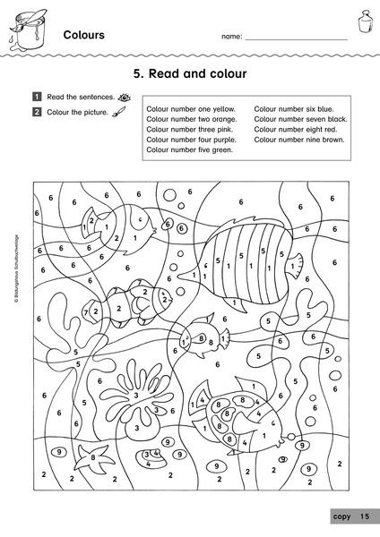 Arbeitsblatt Colours Grundschule : Themenwerkstatt englisch ausgabe für die