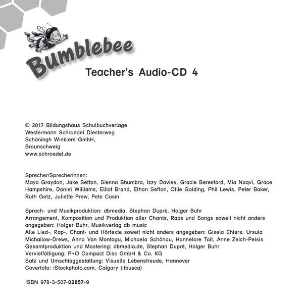 Bumblebee - Aktuelle Ausgabe - Teacher\'s Audio-CD 4: Das ...