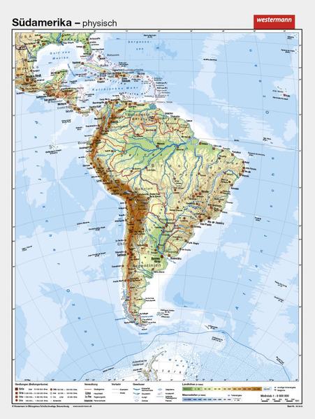 Südamerika - Vorderseite physisch / Rückseite politisch: Diercke Webshop