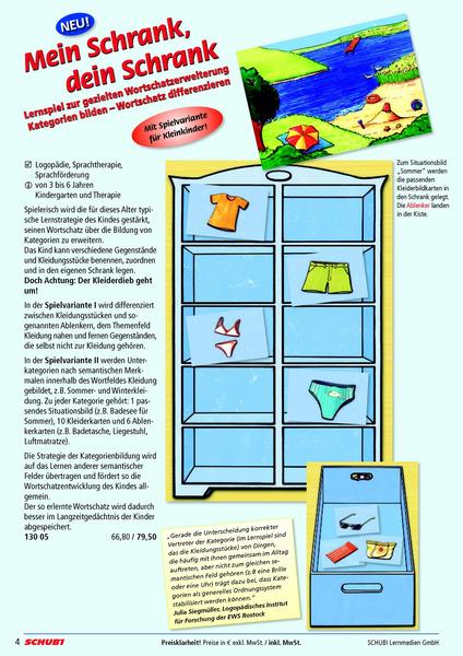 mein schrank dein schrank lernspiel zur gezielten. Black Bedroom Furniture Sets. Home Design Ideas