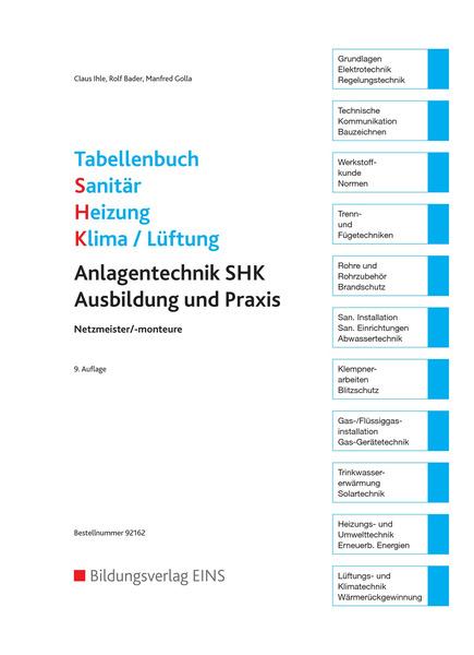 Innovativ Tabellenbuch Sanitär - Heizung - Klima/Lüftung: Westermann Gruppe  YE98