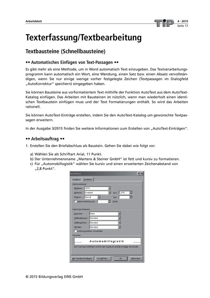 Texterfassung/Textbearbeitung: Verlage der Westermann Gruppe