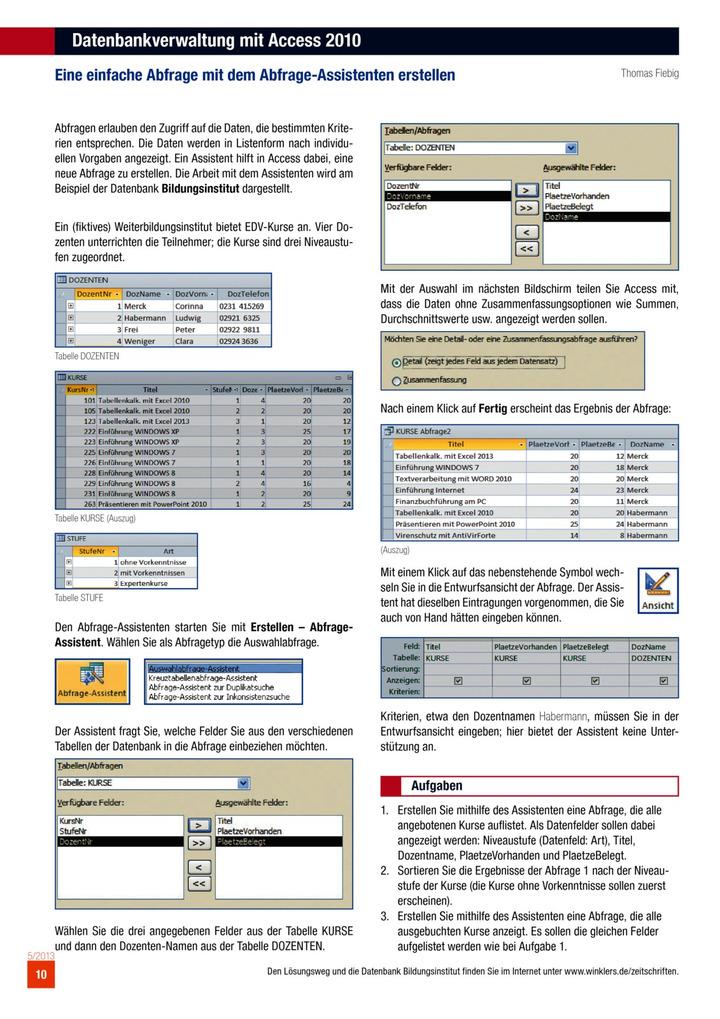Datenbankverwaltung