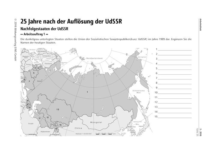 25 Jahre nach der Auflösung der UdSSR - die Rolle Russlands in der ...