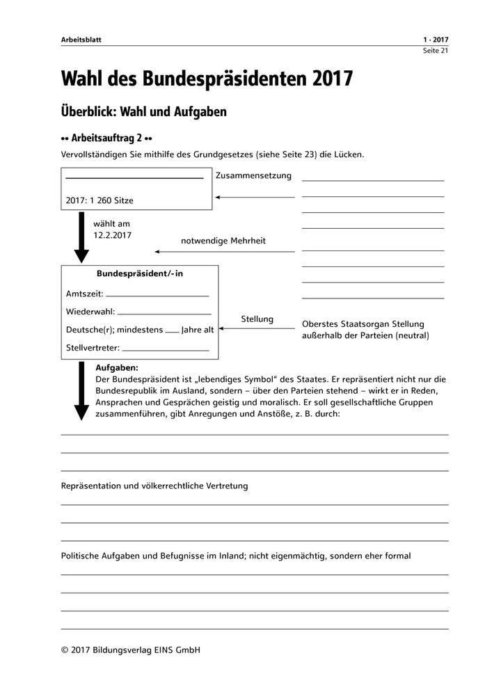 Überblick: Wahl und Aufgaben - Arbeitsblatt: Verlage der Westermann ...