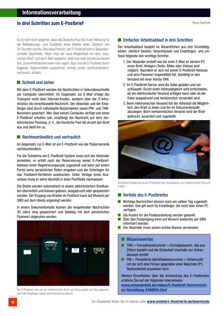 In drei Schritten zum E-Postbrief: Verlage der Westermann Gruppe