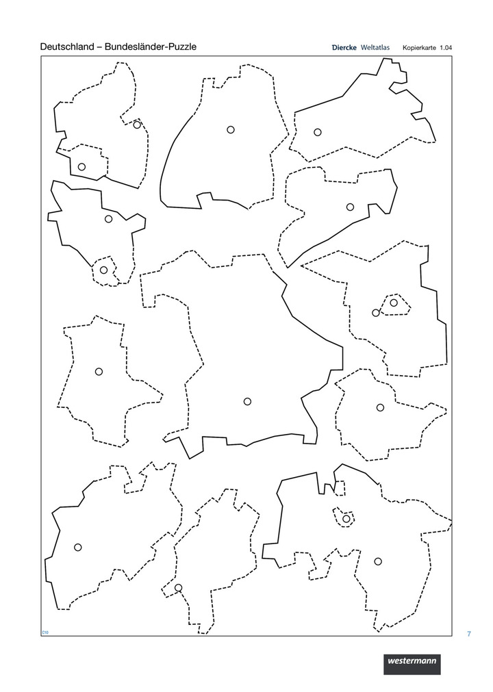 deutschland bundesl nder puzzle verlage der westermann gruppe. Black Bedroom Furniture Sets. Home Design Ideas