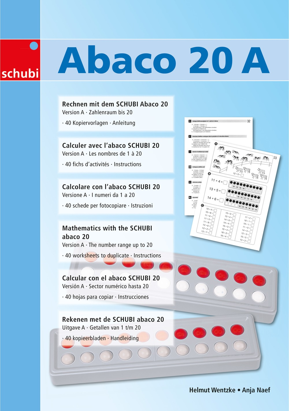 SCHUBI Abaco 20 rot//blau Modell A 10//10 Kugeln