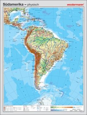 Physische Karte Lateinamerika.Sudamerika Vorderseite Physisch Ruckseite Politisch