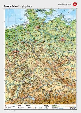 Wandkarten Geographie Deutschland Gesamt Verlage Der Westermann