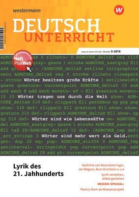Deutschunterricht Lyrik Des 21 Jahrhunderts Ausgabe Oktober Heft 5 2018