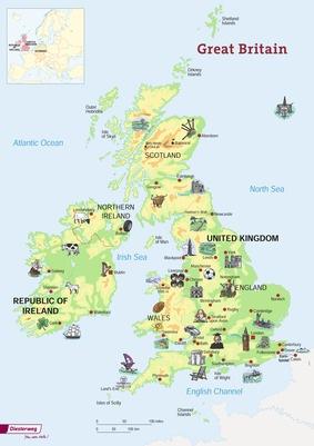 Karte Uk.Poster Grossbritannien Uk England