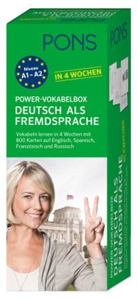pons power vokabelbox deutsch als fremdsprache in 4 wochen. Black Bedroom Furniture Sets. Home Design Ideas