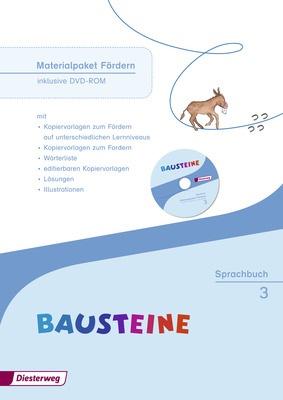 BAUSTEINE Sprachbuch Ausgabe 2014 Materialpaket Fördern und Fordern 3 inklusive DVD ROM