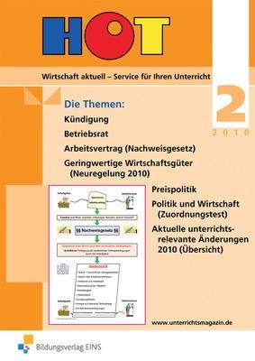 Hot Unterrichtsmagazin Für Wirtschaftsfächer Ausgabe 2 2010