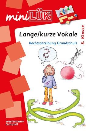 miniLÜK - Lange / kurze Vokale - Rechtschreibung Grundschule ab 3 ...
