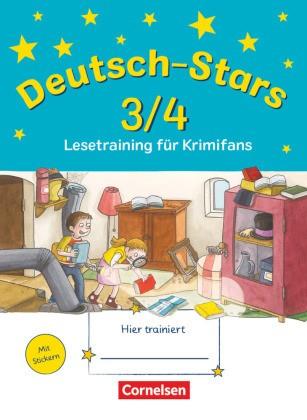Deutsch-Stars - Allgemeine Ausgabe - 3./4. Schuljahr - Lesetraining für Krimifans - Übungsheft - Mit Lösungen