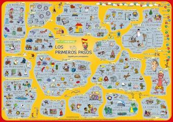 mindmemo Lernposter - Los primeros pasos - Spanisch für Einsteiger - Vokabeln lernen mit Bildern - genial-einfache Lernhilfe - DIN A2 PremiumEdition