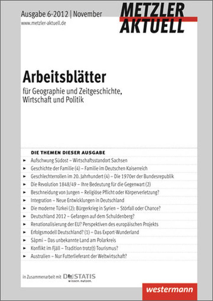 Metzler aktuell - Arbeitsblätter für Geographie, Wirtschaft ...
