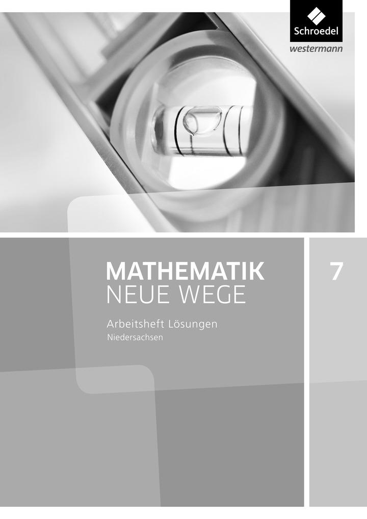 mathematik neue wege si aktuelle ausgabe g9 f r niedersachsen l sungen arbeitsheft 7. Black Bedroom Furniture Sets. Home Design Ideas