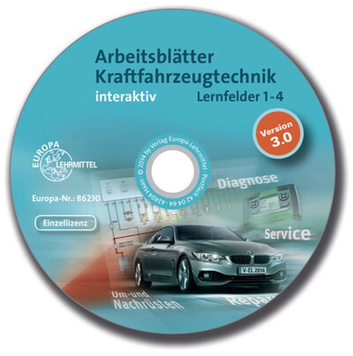 arbeitsbl tter kraftfahrzeugtechnik interaktiv lernfelder 1 4 cd rom cd rom interaktive. Black Bedroom Furniture Sets. Home Design Ideas
