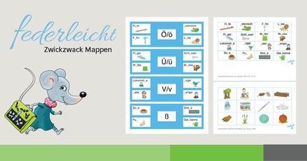 Volksschule federleicht Zwickzwack Mappen
