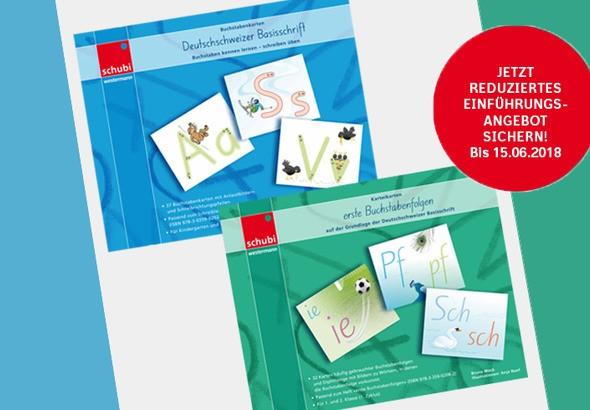 Deutschschweizer Basisschrift Buchstabenkarten und erste Buchstabenfolgen